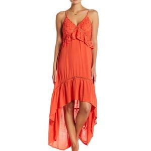 Flying Tomato Orange High Low Dress 🧡